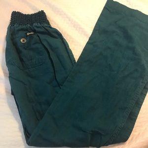 Rewash Teal Linen and Cotton Pants M